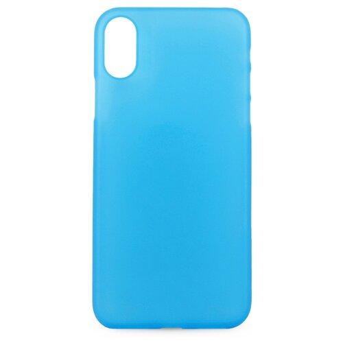 Пластиковый чехол накладка для iPhone X и XS / Тонкий матовый чехол на Айфон Х и Хс (Синий)