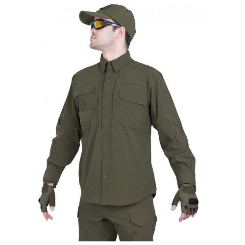 Рубашка тактическая мужская GONGTEX TRAVELLER SHIRT, нейлон, цвет Олива (Olive)-XL
