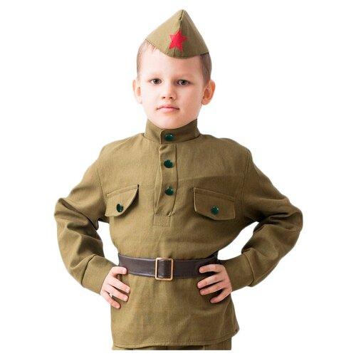 Купить Рубашка Бока Военная форма Гимнастерка, хаки, размер 140-152, Карнавальные костюмы