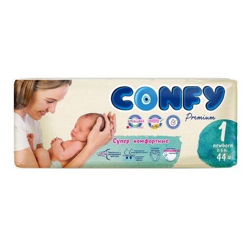 Купить CONFY подгузники Premium 1 (2-5 кг) 44 шт., Подгузники