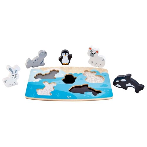 Рамка-вкладыш Hape тактильная Арктические животные, 5 дет. арктические проекты