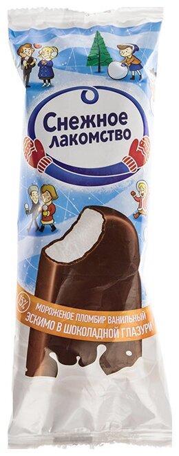 Мороженое Снежное лакомство пломбир ванильный, 80 г