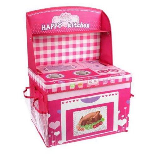Купить Корзина Наша игрушка Моя кухня (TX13287-1) розовый, Хранение игрушек