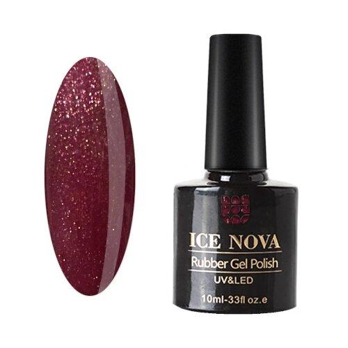 Фото - Гель-лак для ногтей ICE NOVA Rubber Gel Polish, 10 мл, 045 гель лак для ногтей ice nova ice cream 10 мл 045