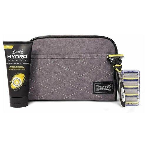 Купить Набор Wilkinson Sword дорожная косметичка, крем для бритья, бритвенный станок Hydro 5 Sense