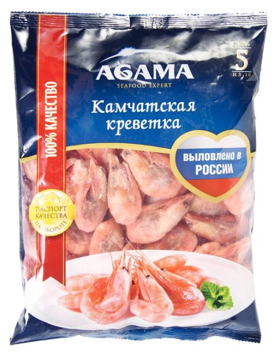 Agama Креветки Камчатские неразделанные варено-мороженные №5 800 г