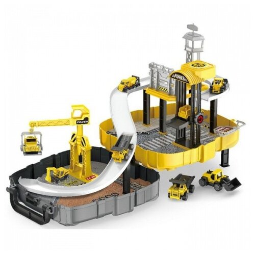 Купить Peng Rong P866-A желтый/серый/черный, Детские парковки и гаражи