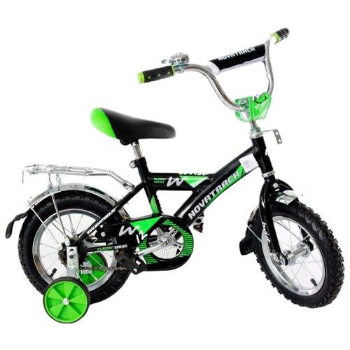 цена на Детский велосипед Novatrack Twist 12 (2017) черный/зеленый (требует финальной сборки)