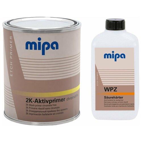 Mipa 2K WP Aktivprimer Грунт кислотоотверждаемый с высокой степенью антикоррозионной защитой, в комплекте с отвердителем (1л + 0,5л)