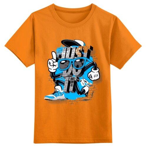 Купить Футболка Printio размер 3XS, оранжевый, Футболки и майки
