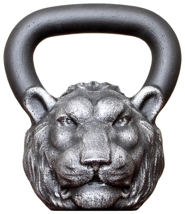 Гиря цельнолитая Iron Head Лев 16 кг