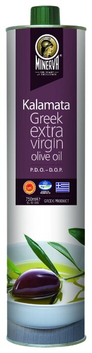 MINERVA Масло оливковое Kalamata Extra Virgin, жестяная банка