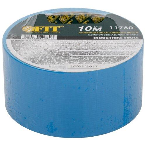 Клейкая лента универсальная FIT 11780, 48 мм x 10 м лента клейкая армированная влагостойкая 48 мм х 10 м серебристая matrix