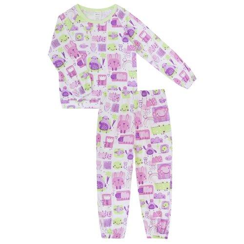Купить Пижама KotMarKot размер 122, фиолетовый, Домашняя одежда