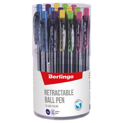 Купить Berlingo Набор шариковых ручек SI-400 Color, 0.5 мм, 30 шт., синий цвет чернил, Ручки