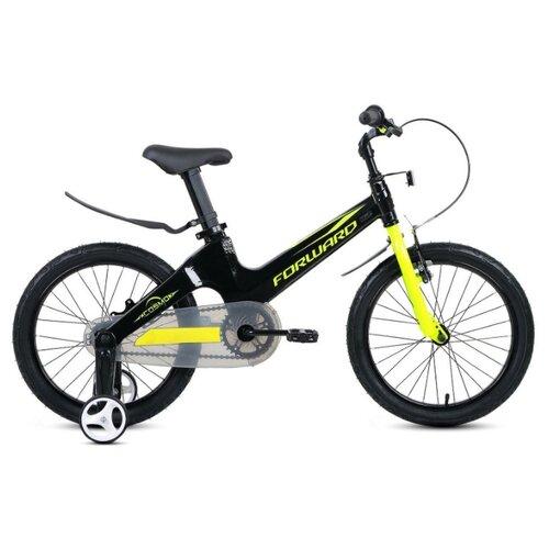 Детский велосипед FORWARD Cosmo 18 (2020) черный/зеленый (требует финальной сборки)