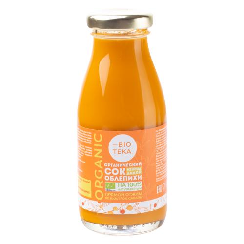 Фото - Сок BIOTEKA Облепиха, без сахара, 0.2 л нектар juicer облепиха без сахара 0 25 л 10 шт