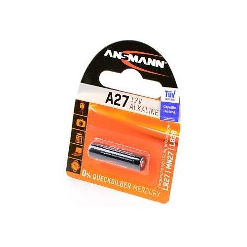 Батарейка ANSMANN A27 1 шт блистер батарейка ansmann cr1620 1 шт блистер