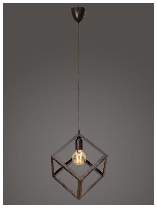 Купить Подвесной светильник Северный свет Куб, венге по низкой цене с доставкой из Яндекс.Маркета