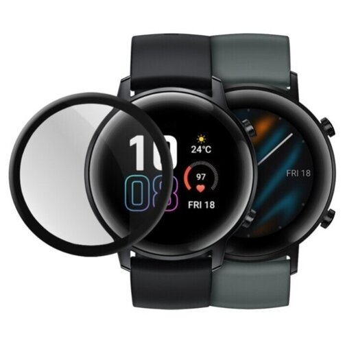 Гибридное стекло Mobius для смарт-часов Huawei Watch GT 2/Magic 2 3D Full Cover (42 мм)