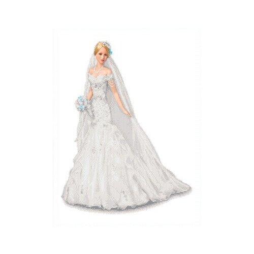 Купить Невеста Рисунок на ткани 45х53 Каролинка ТКБЛ 2008, Канва