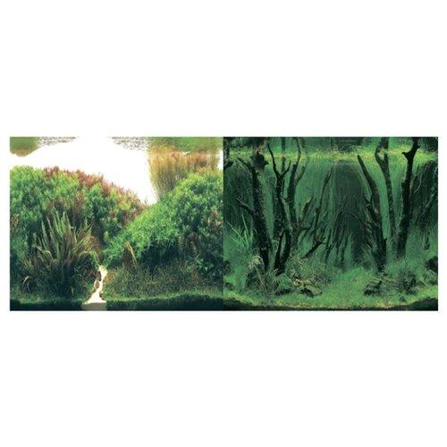 Пленочный фон Prime Растительные холмы/Коряги с растениями двухсторонний 50х100 см