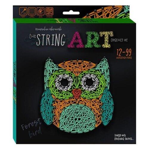 Купить Danko Toys Набор для творчества String Art Сова (STRA-01-02), Поделки и аппликации