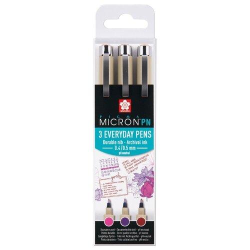 SAKURA Набор капиллярных ручек Pigma Micron PN (POXSDKPN3B) 3 цвета, Ручки  - купить со скидкой