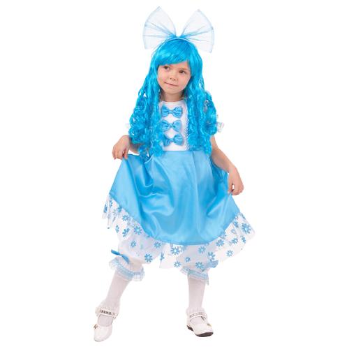Купить Костюм пуговка Мальвина (2041 к-18), голубой, размер 140, Карнавальные костюмы