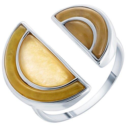 ELEMENT47 Кольцо из серебра 925 пробы с жадеитом SR2245_KO_WG, размер 18.5