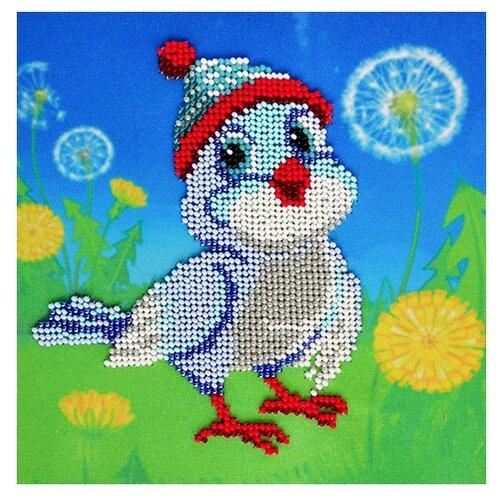Купить Бисеринка Набор для вышивания бисером Чижик-пыжик 17 х 17 см (Б-0121), Наборы для вышивания