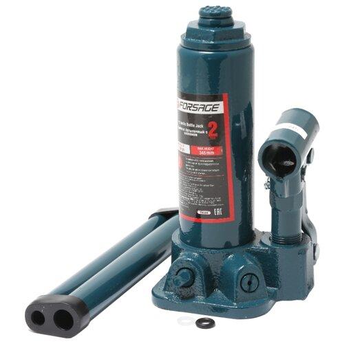 Домкрат бутылочный гидравлический Forsage F-T90204 с клапаном + рем. комплект (2 т) синий