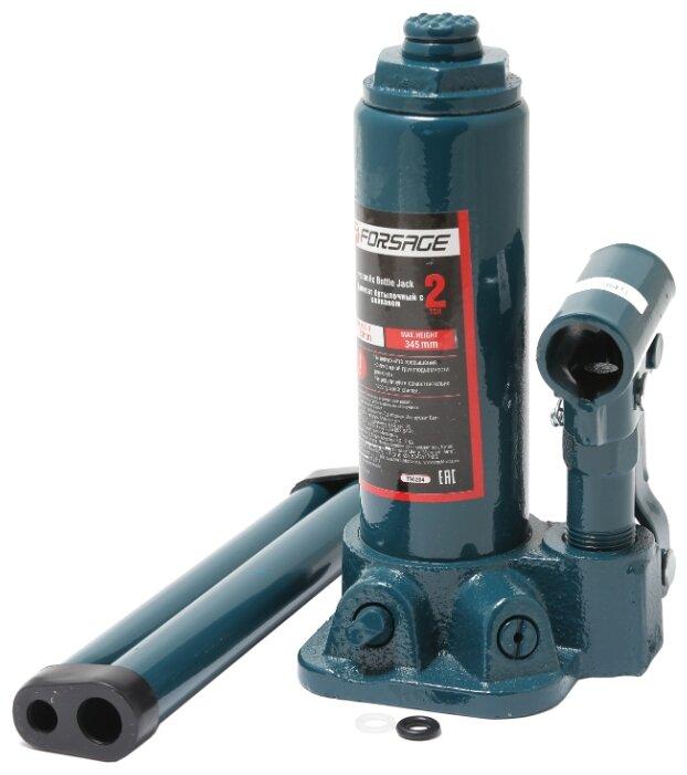Домкрат бутылочный гидравлический Forsage F-T90204 с клапаном + рем. комплект (2 т)