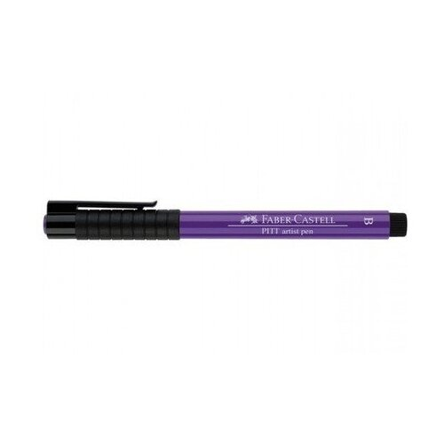 Faber-Castell ручка капиллярная Pitt Artist Pen Brush B, фиолетовый цвет чернил faber castell ручка перьевая ambition birnbaum m