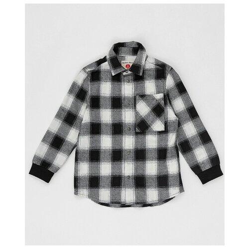 Купить Рубашка Button Blue размер 98, черный/белый, Рубашки