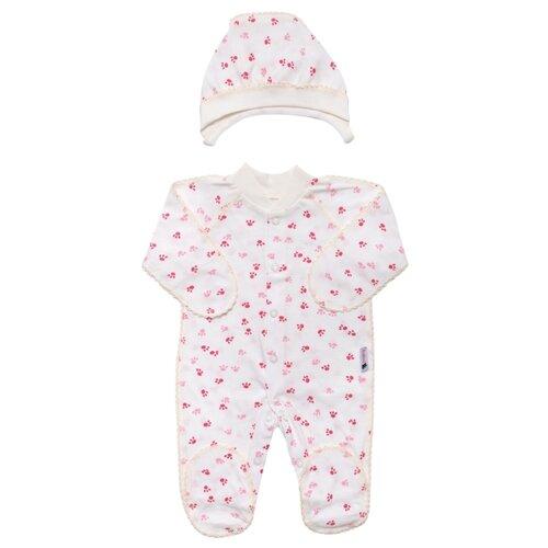 Комплект одежды Клякса размер 20-62, экрю/розовый комплект одежды клякса размер 20 62 экрю