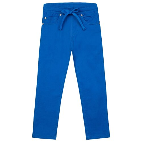 Брюки playToday размер 110, синий playtoday брюки playtoday для мальчика