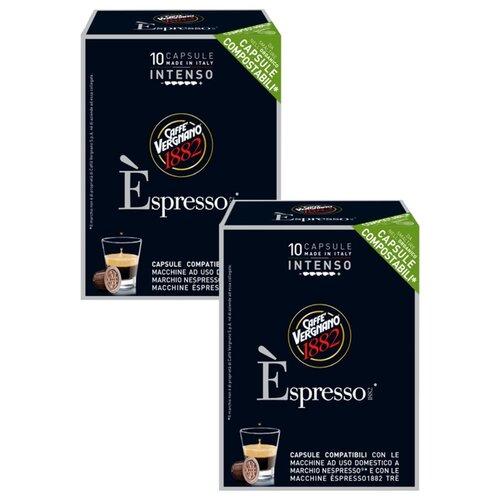 Фото - Кофе в капсулах Caffe Vergnano 1882 Espresso Intenso, 20 капс. кофе молотый caffe vergnano 1882 espresso casa 250 г