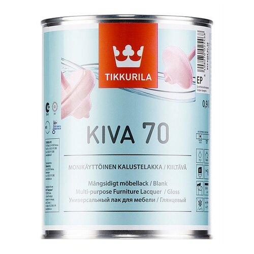 Лак Tikkurila Kiva 70 полиакриловый бесцветный 0.9 л лак акрилатный tikkurila kiva 70 ep глянцевый 0 9 л