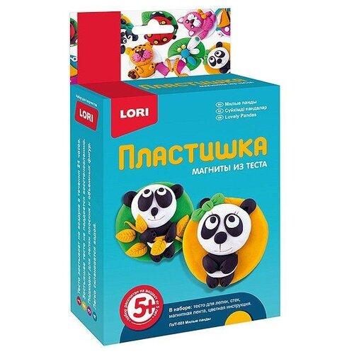 Масса для лепки LORI Пластишка магниты - Милые панды (Пз/Т-003)