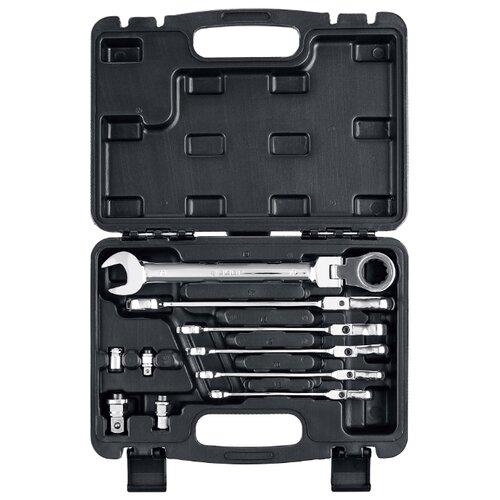 Набор гаечных ключей ЗУБР (10 предм.) 27102-H10 серебристый набор гаечных ключей зубр 12 предм 27011 h12 серебристый