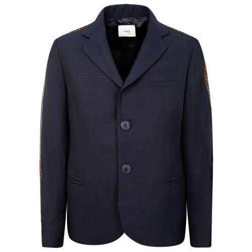 Купить Пиджак FENDI размер 152, синий, Пиджаки