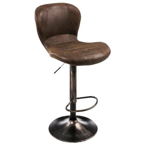 Стул Woodville Hold, металл/искусственная кожа, цвет: vintage brown