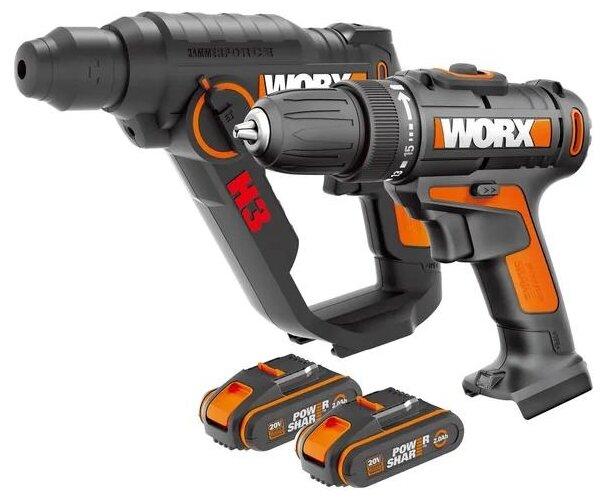 Набор аккумуляторного электроинструмента, кол-во: 2 шт. Worx WX927