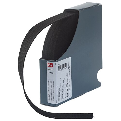 Купить Prym Эластичная лента для уплотнения шва 955477, черный 2.5 см х 10 м, Технические ленты и тесьма