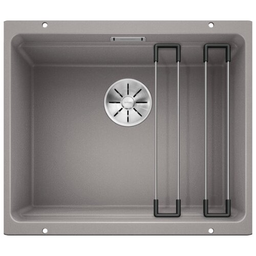 Врезная кухонная мойка 53 см Blanco Etagon 500-U Silgranit PuraDur алюметаллик фото