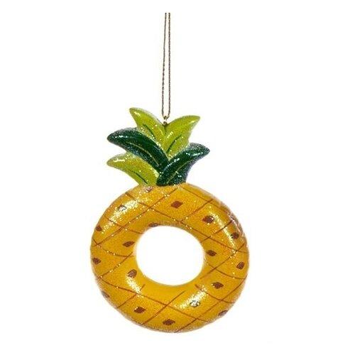Елочная игрушка Goodwill Сочный Ананас желтый.