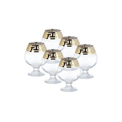 ГУСЬ-ХРУСТАЛЬНЫЙ Набор бокалов для бренди Греческий узор EAV03-188 6 шт. 400 мл. прозрачный гусь хрустальный набор бокалов для бренди лоза tav116 1812 6 шт прозрачный золотой