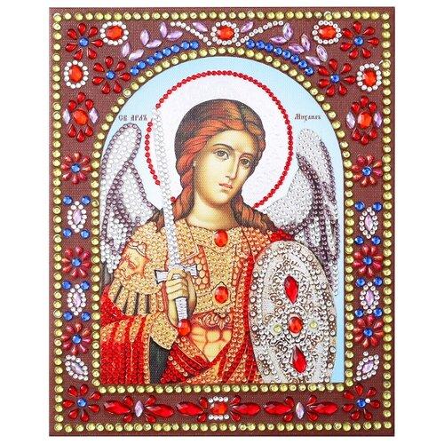 Купить Алмазная живопись иконы фигурными стразам Святой Архангел Михаил 20х25, Color Kit, Алмазная мозаика