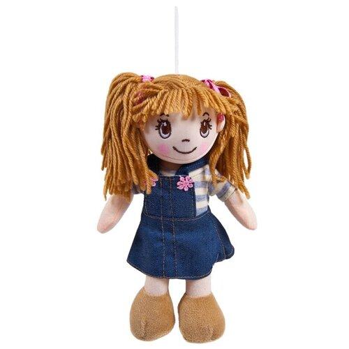 Мягкая игрушка ABtoys Кукла рыжая в джинсовом сарафане 20 см ABtoys   фото